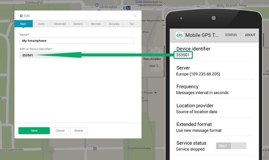 Windows GPS Tracker app manual